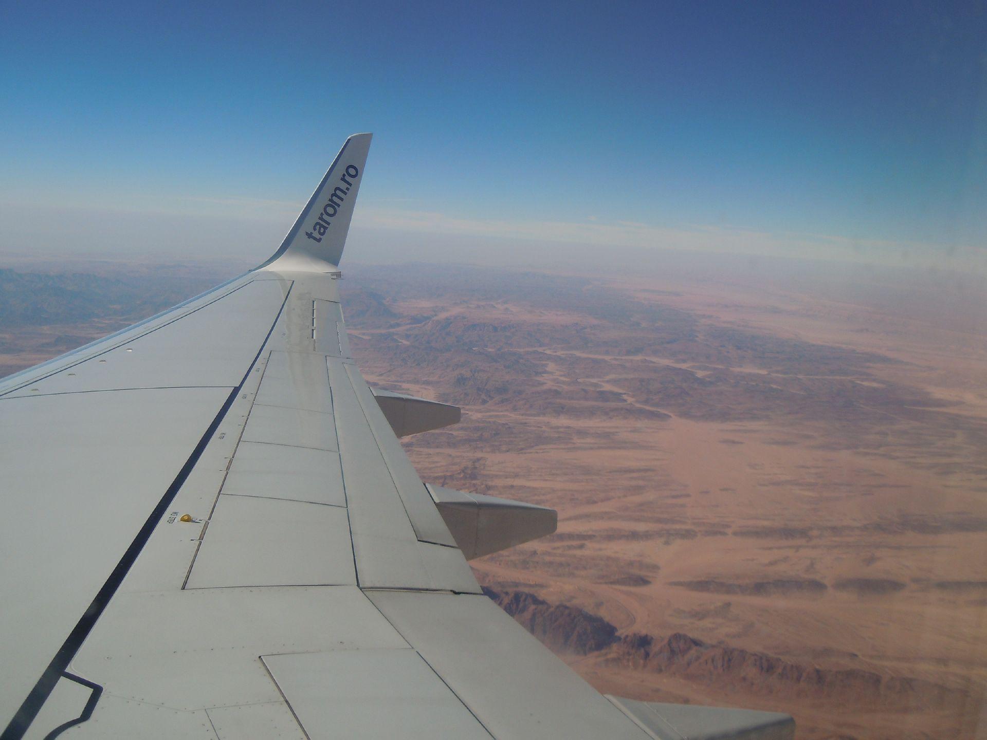 Zbor deasupra Peninsulei Sinai