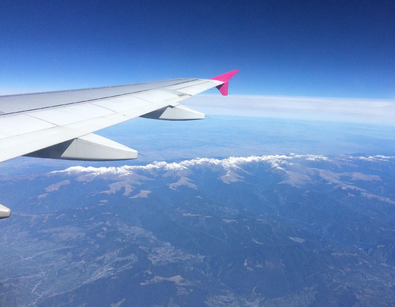 Carpatii Meridionali vazuti din avion