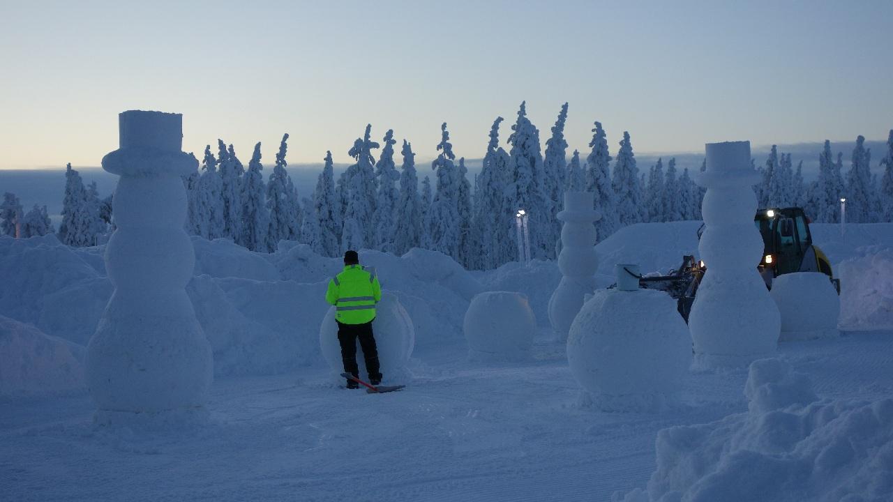 Snow Park-ul din fata hotelului