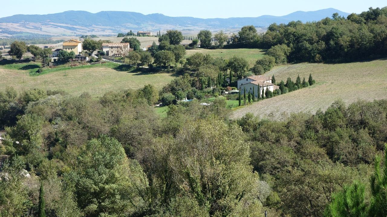 Imagine panoramica de vis din statiunea Bagno Vignoni