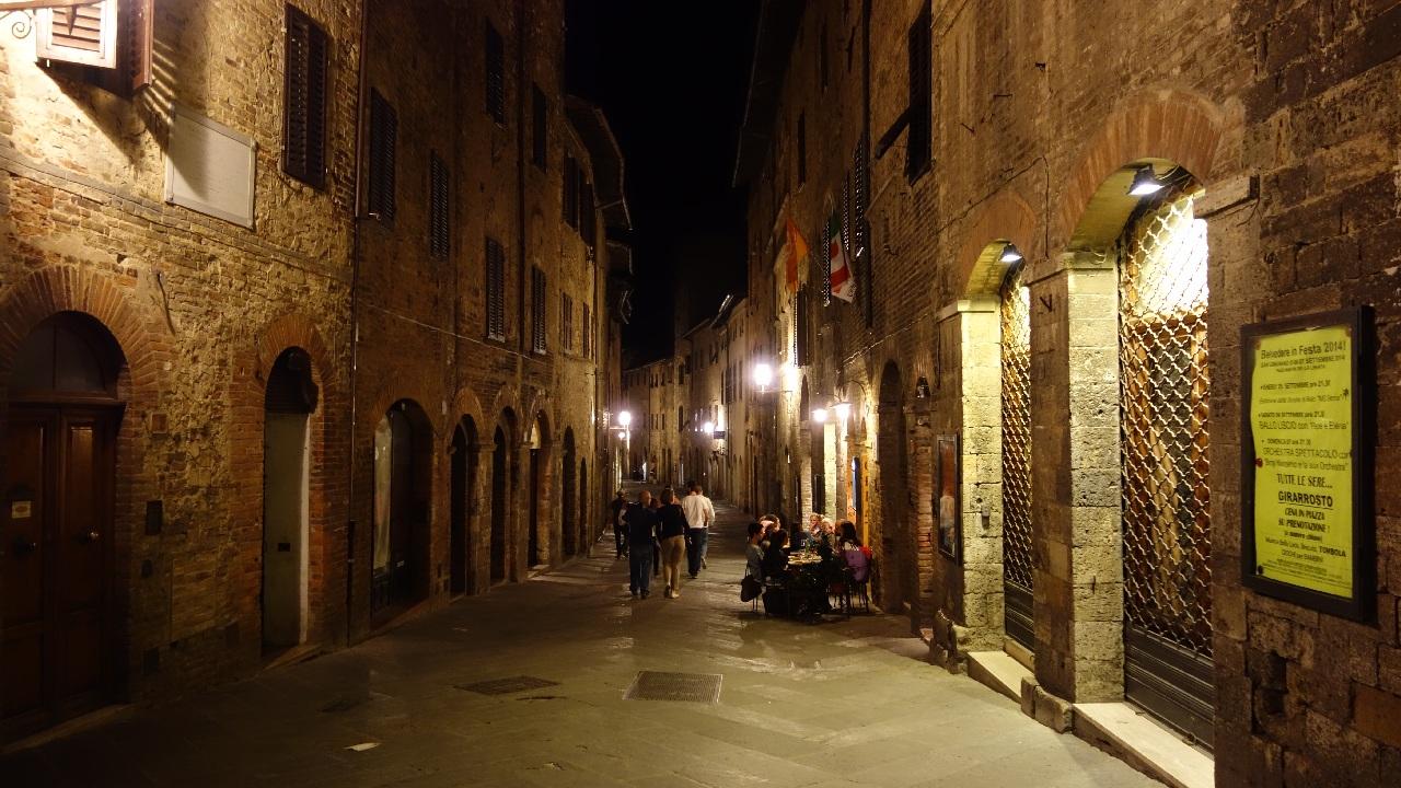 La plimbare prin San Gimignano