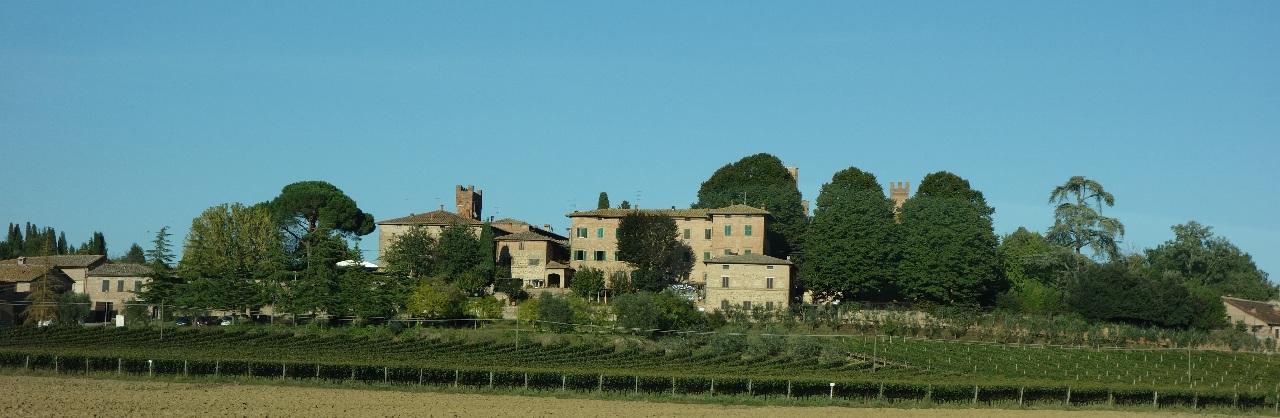 Instantaneu surprins pe traseul Montalcino - San Gimignano