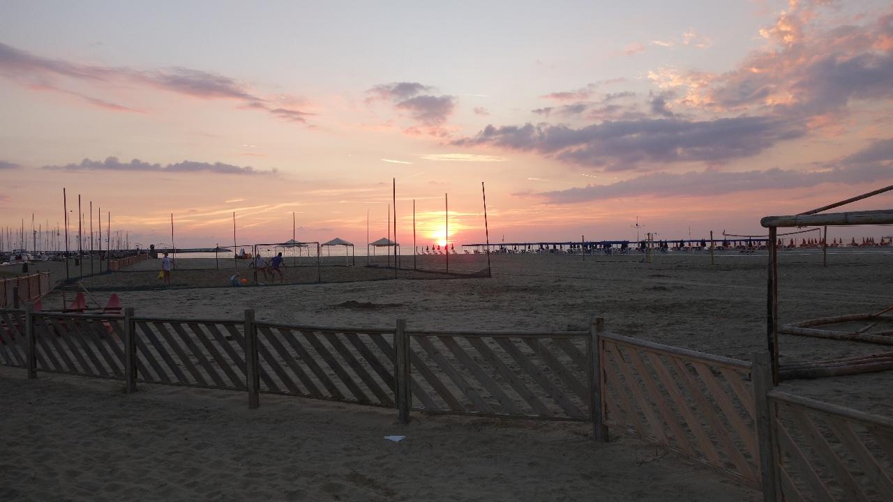 Apus de soare peste marea tireniana