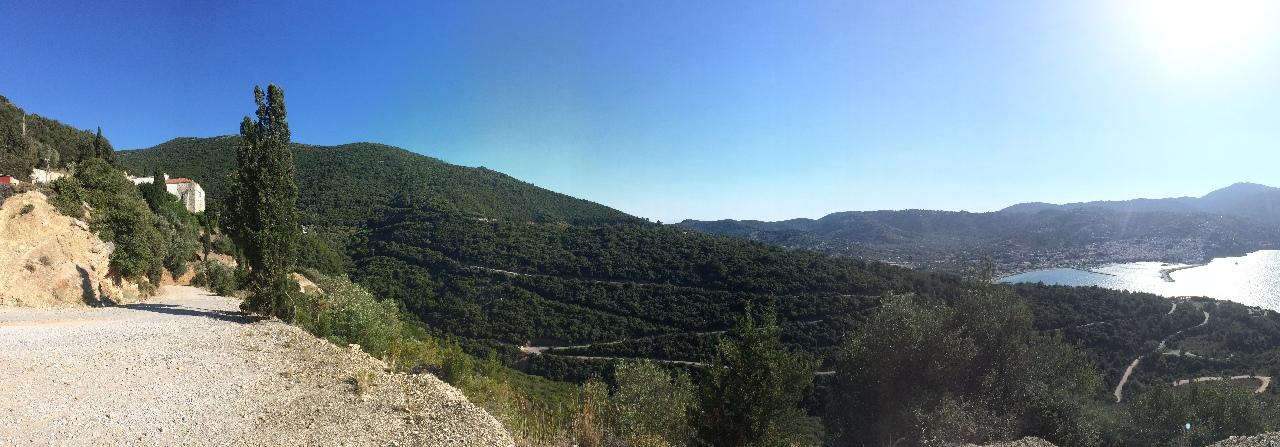 Drumul spre Manastirea Evanghelistria