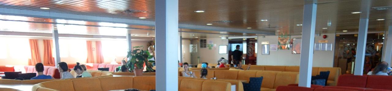 Interiorul feribotului