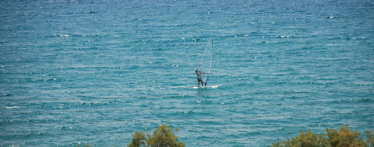 Windsurfing in Thassos