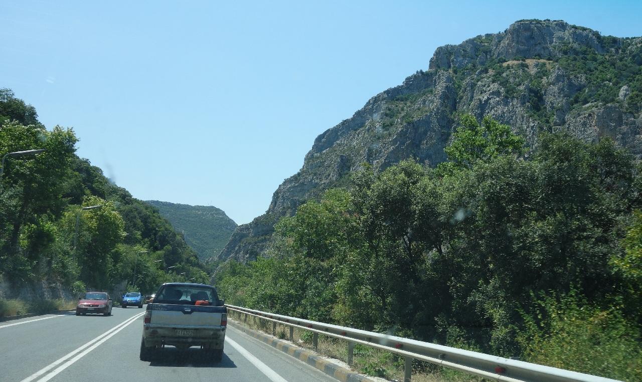 Portiunea fara autostrada din dreptul statiunii Platamonas