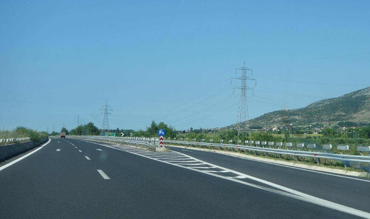 Iesirea efectiva de pe Autostrada, catre Thassos