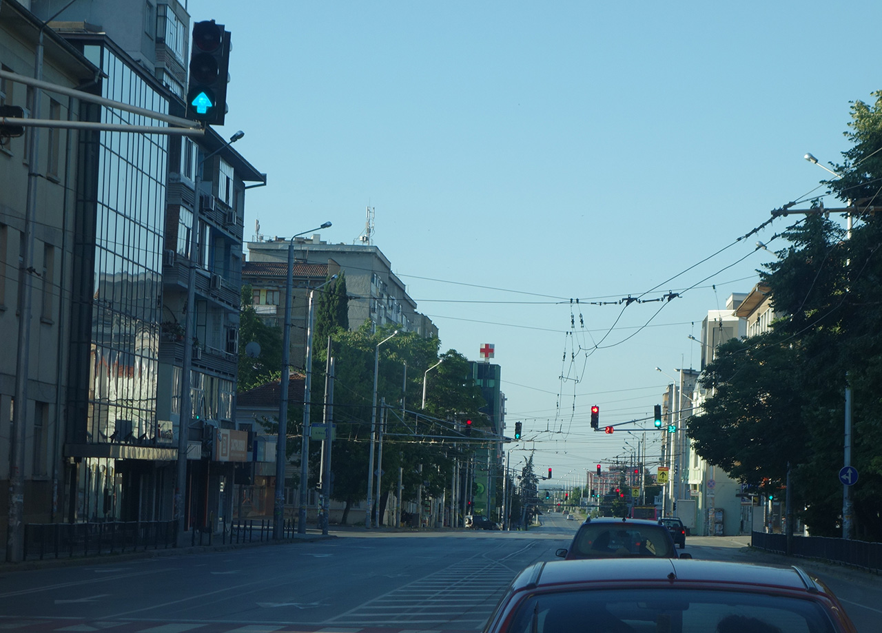 Stara Zagora - semafoare sincronizate