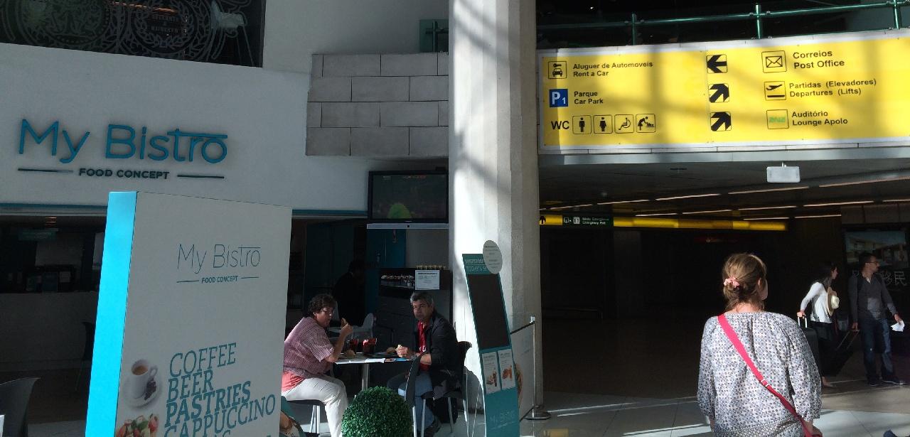 My Bistro- punct de orientare in Aeroportul din Lisabona