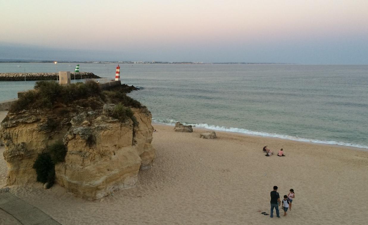 Apus de soare pe Praia da Batata