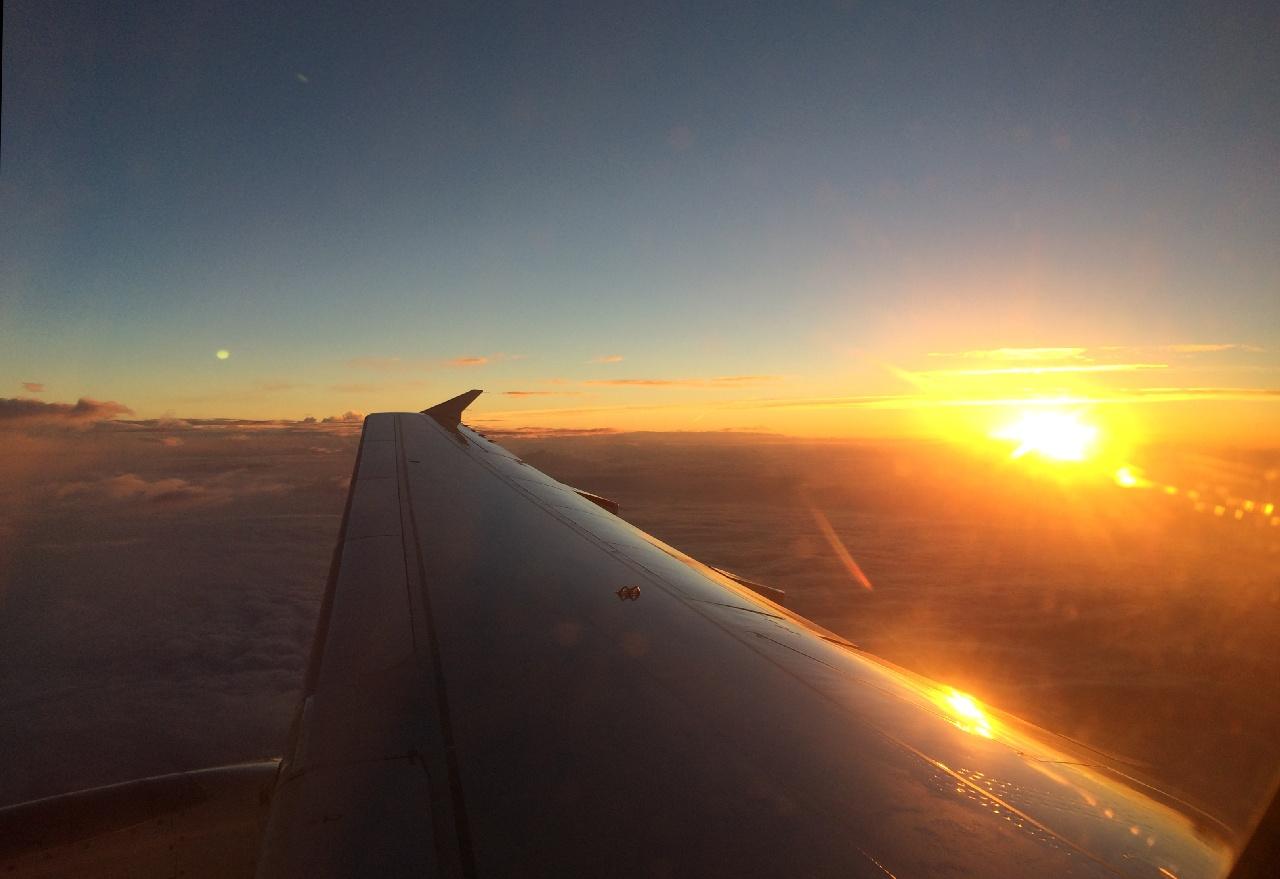 Rasarit de soare, in drum spre Lisabona