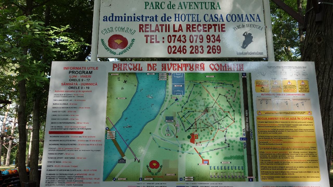 Regulamentul Parcului de Aventura Comana