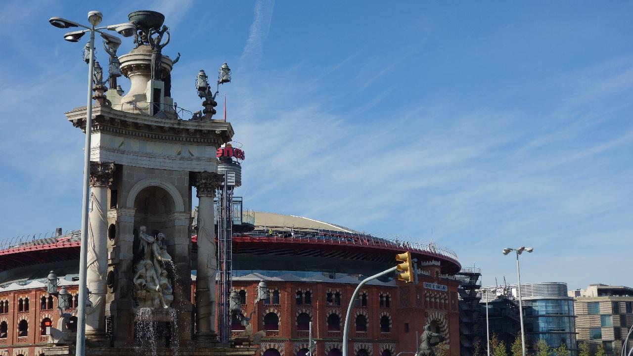 Plaça d'Espanya, vazuta de la inaltime
