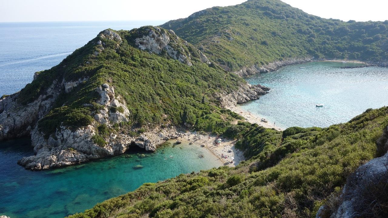 Porto Timoni, cel mai spectaculos loc din insula Corfu