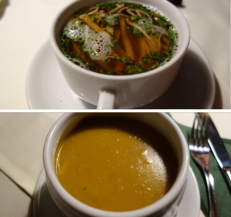 Supa limpede de vitel, cu taitei & Gulas