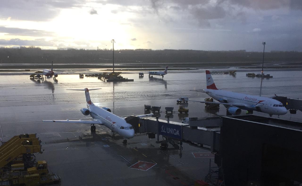 Austrian Airlines pe aeroportul din Viena