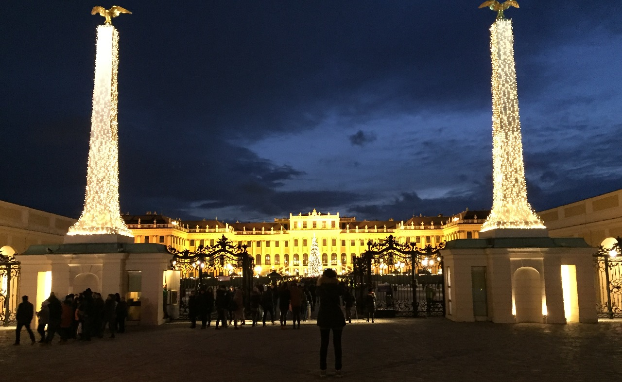 La portile Schonbrunn-ului...
