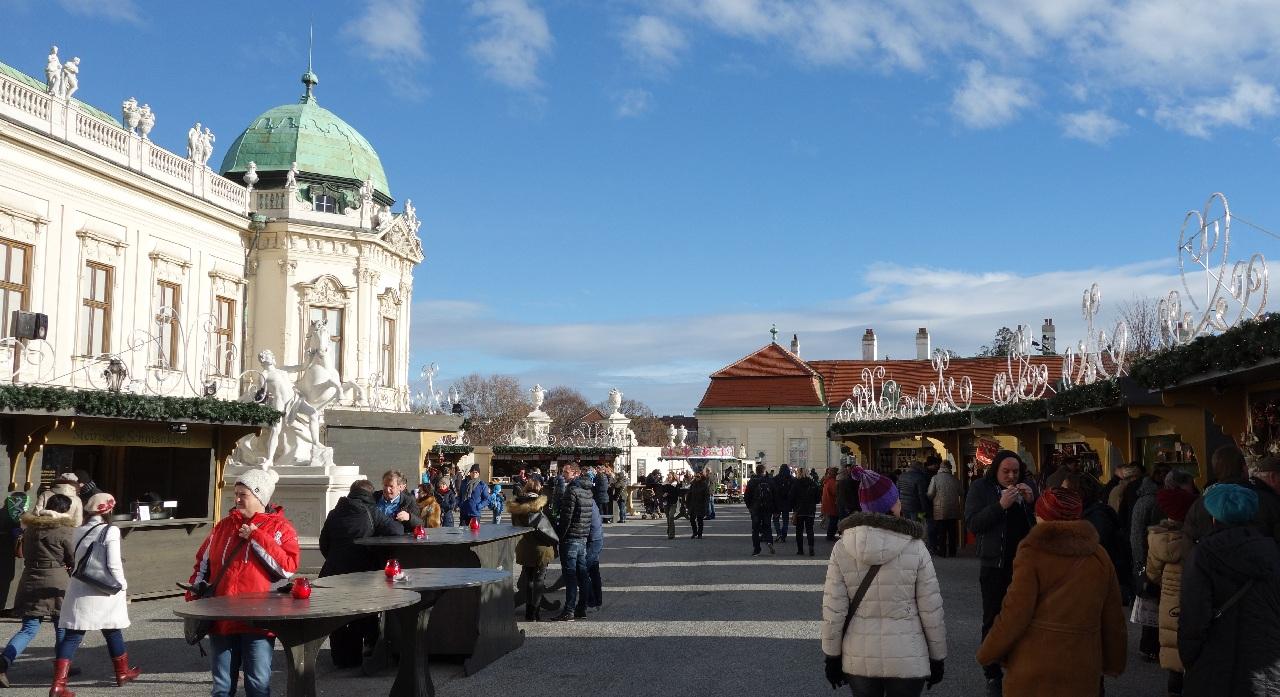 Satul de Craciun de la Palatul Belvedere