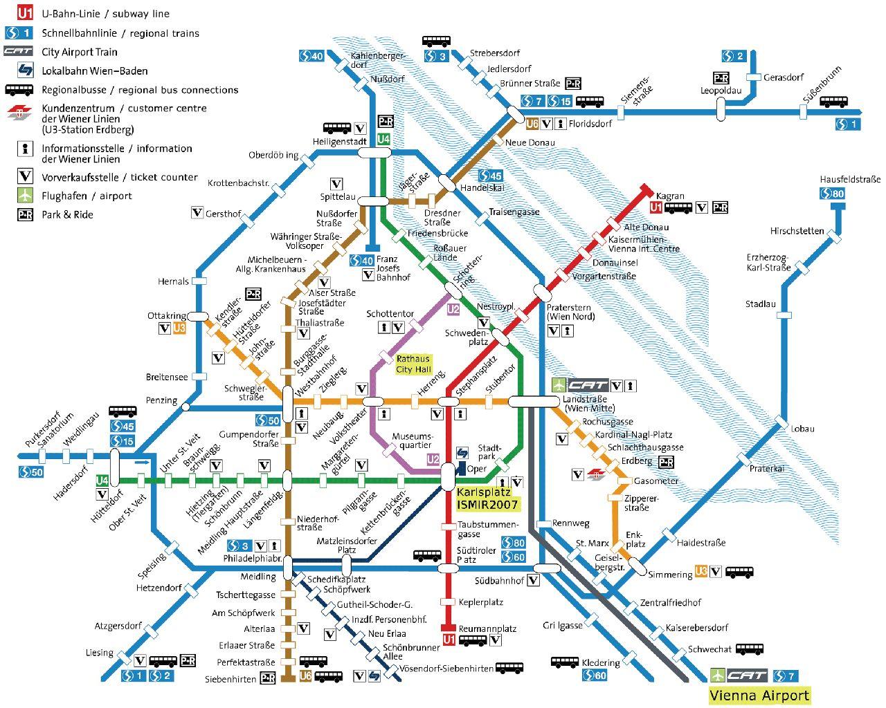 Reteaua de transport feroviar - Viena