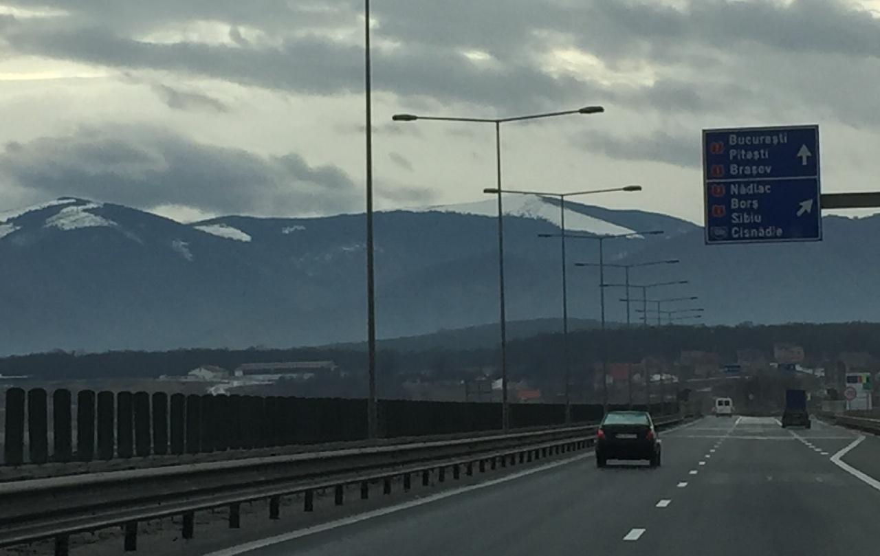 Autostrada A1, in zona Sibiului