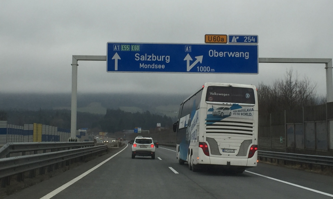 Pe Autostrada A1, spre Salzburg...