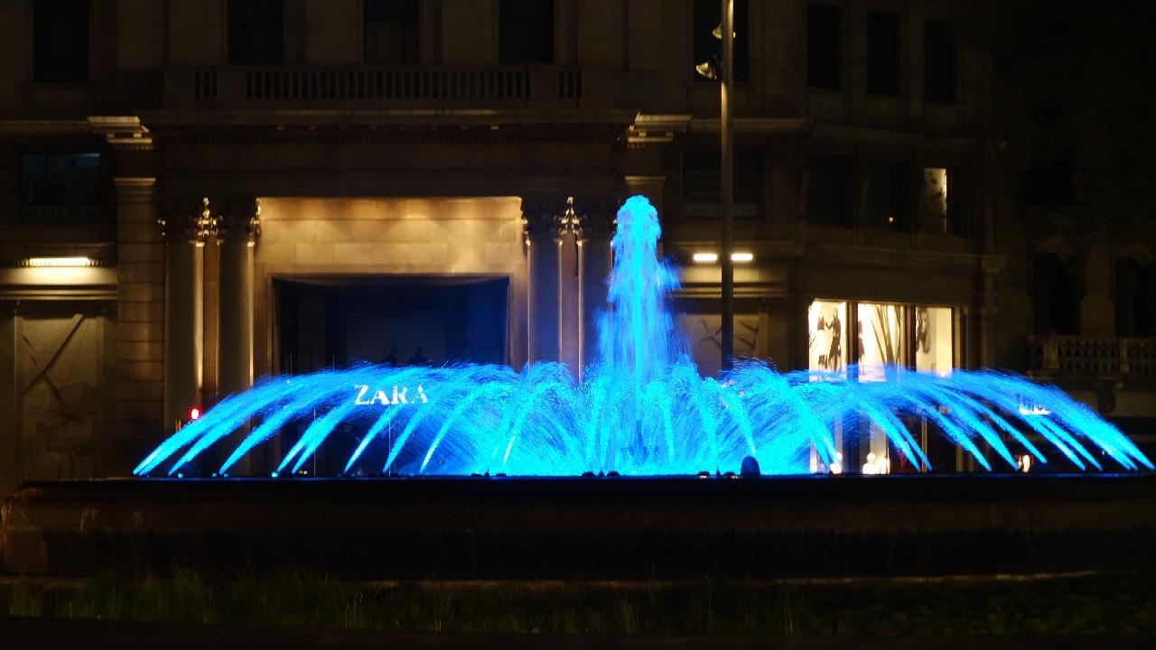 Passeig de Gracia la ceas de noapte
