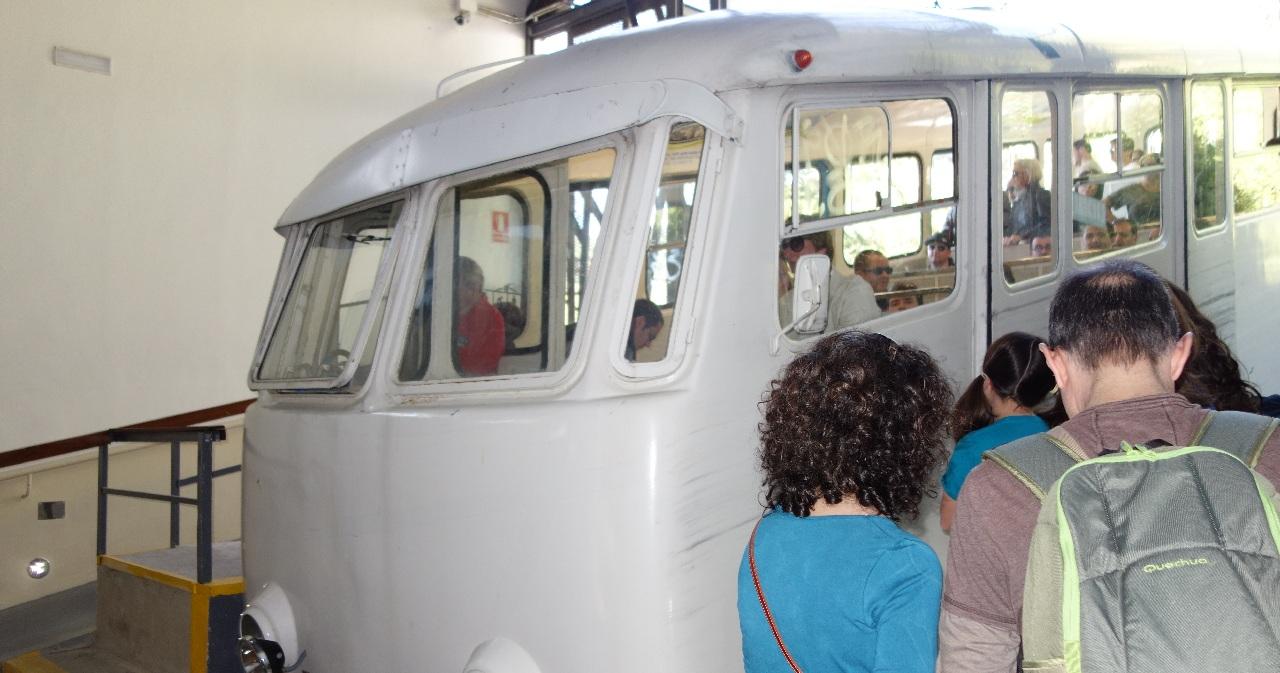 Plecarea cu funicularul pe Tibidabo