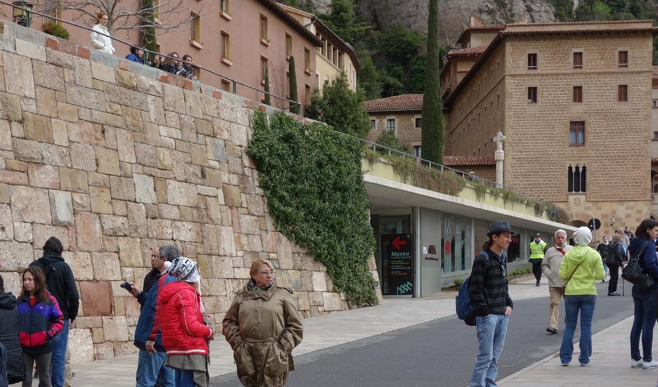 Intrarea in Muzeul Manastirii Montserrat