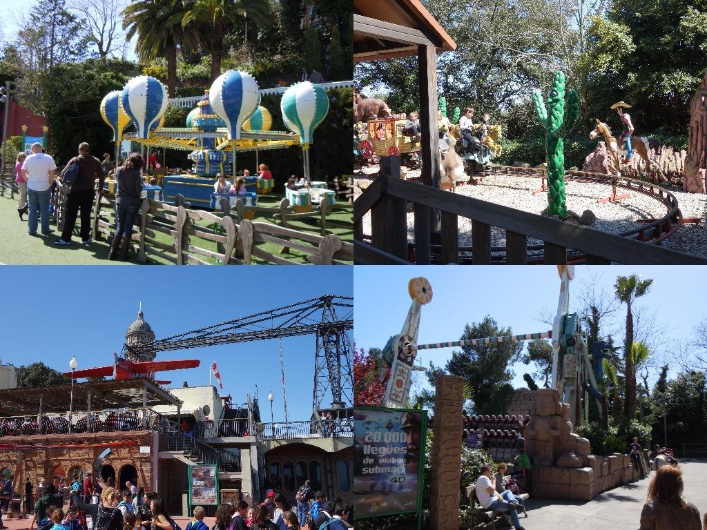 Cateva din zonele Parcului de Distractii Tibidabo