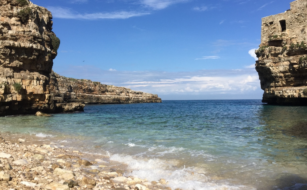 Dimineata superba in Polignano a Mare