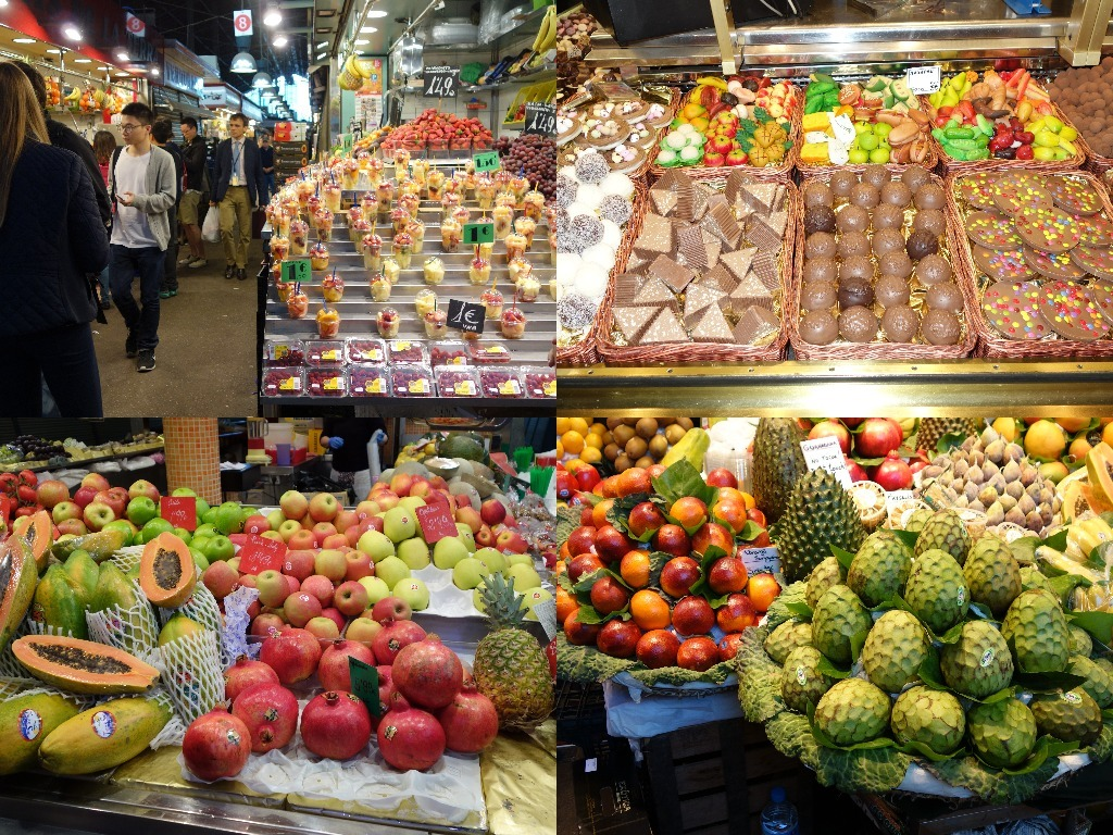 """Fructe si dulciuri in """"La Boqueria"""""""