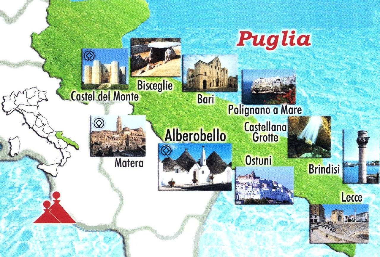 Harta turistica a Pugliei
