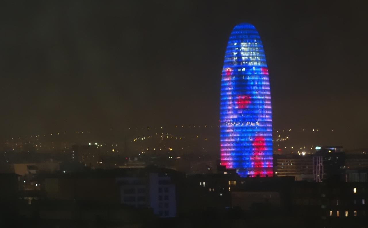 Torre Agbar, vazut din hotelul H10 Marina Barcelona