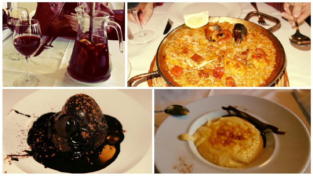 Paella si Sangria la Restaurant Les Quinze Nits