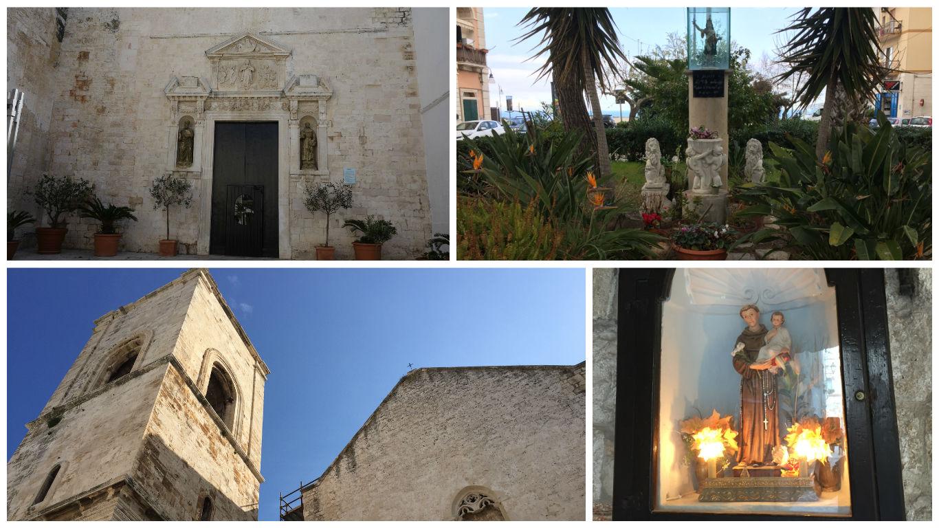 Lacasuri de cult religios in Polignano a Mare