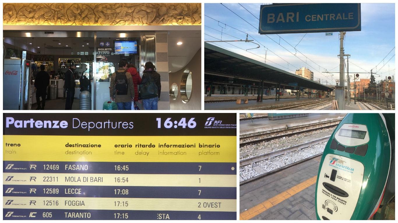 Deplasarea cu trenul Bari - Polignano a Mare