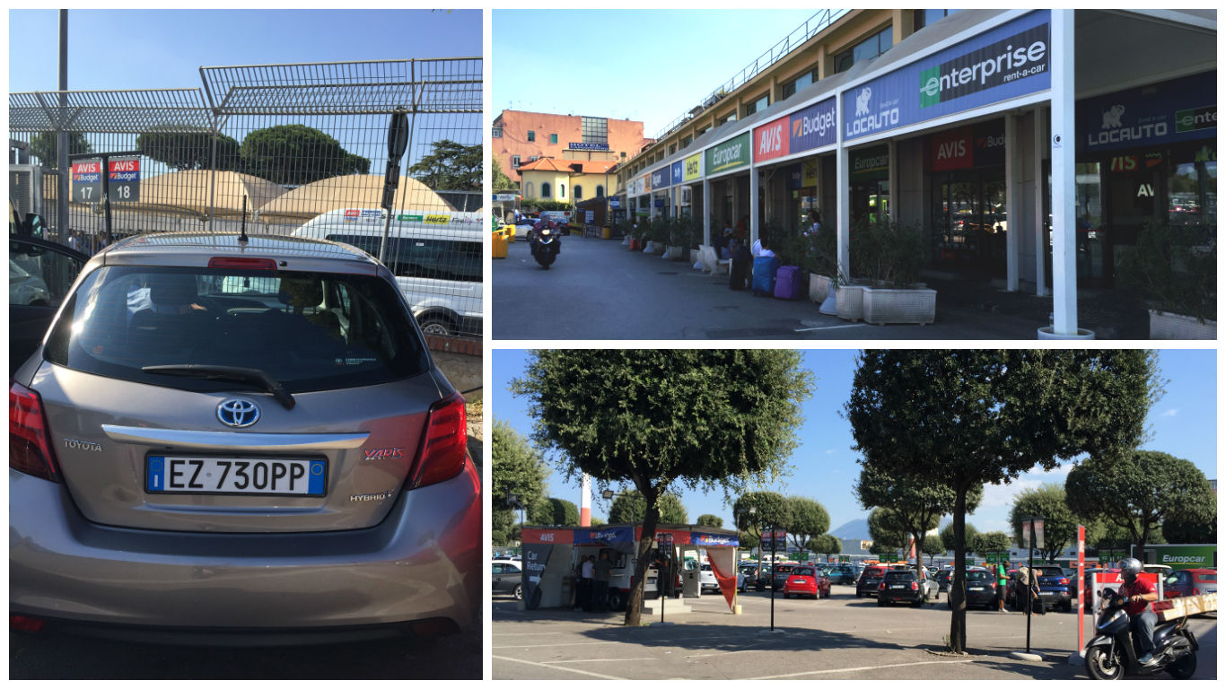 Aeroport Napoli - platforma Rent-a-Car