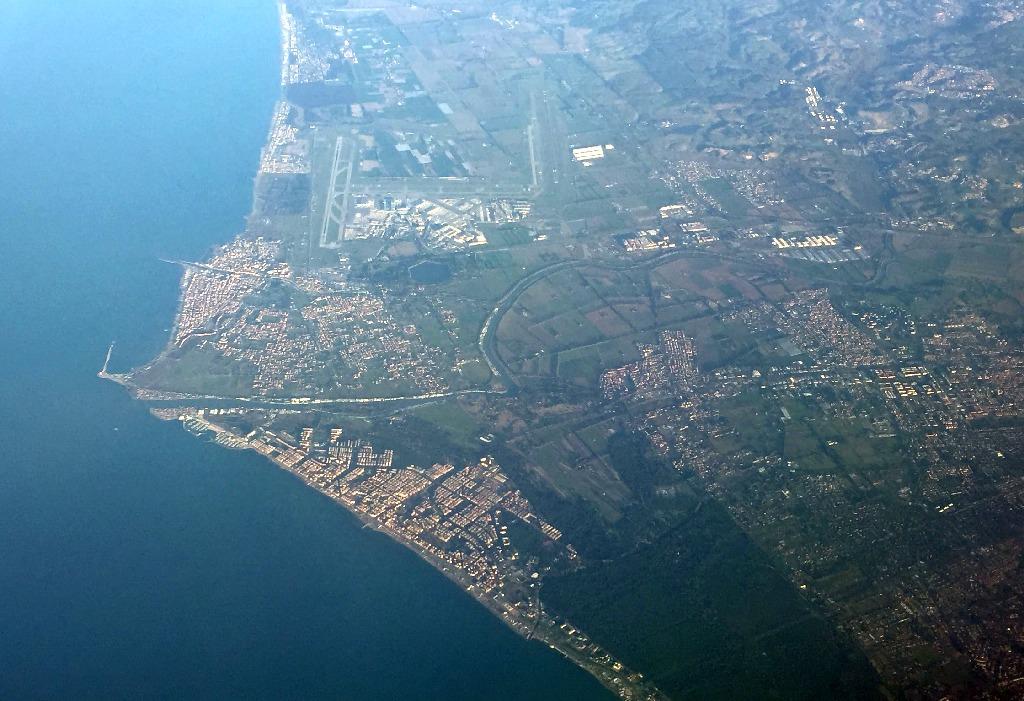 Zburand peste Italia (Roma, Tibru, Fiumicino)