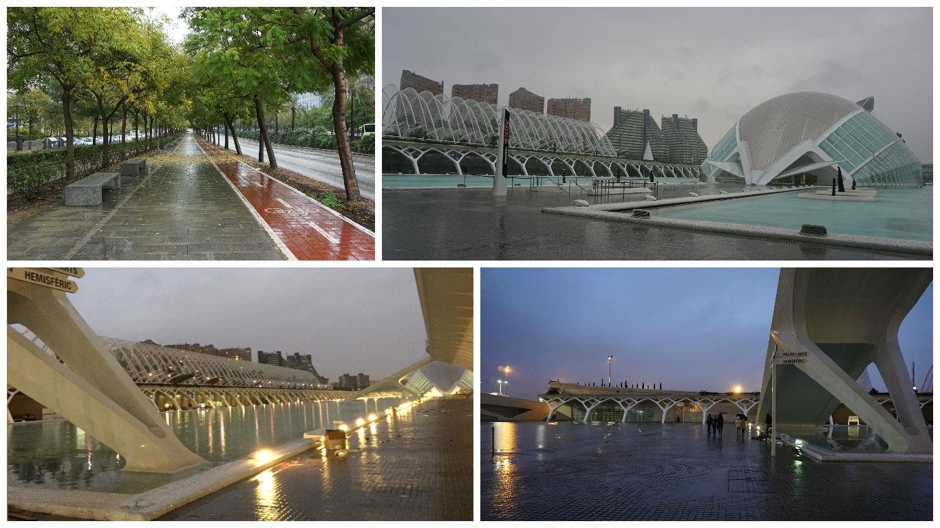 Valencia sub ploaie torentiala